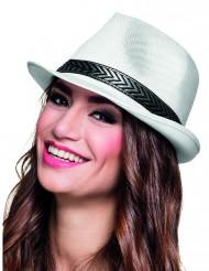 Cappello borsalino bianco per adulto