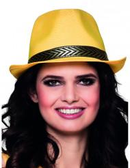 Cappello borsalino giallo e nero per adulto