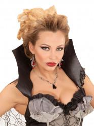 Collana con pipistrelli e pietra gioiello per donna - Halloween