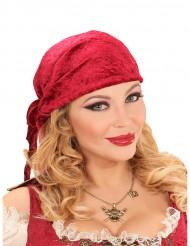 Collana da pirata con teschio e tricorno dorato
