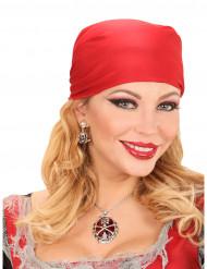 Collana petre preziose rosse pirata donna