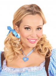 Collana bavarese con cuore blu - Festa della Birra