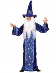 Costume mago stellato blu Bambino