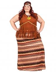Costume vestito lungo hippie donna