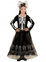 Costume da damina scheletro per bambina - Halloween