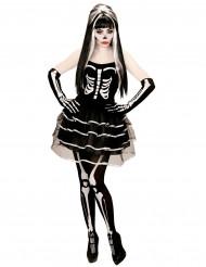 Costume scheletro effetto tutu da donna halloween
