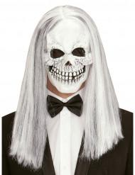 Maschera da scheletro con parrucca