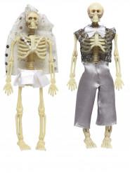 Decorazione di Halloween: coppia di scheletri sposati