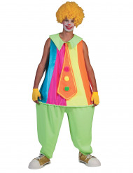 Costume fosforescente da clown per dadulto