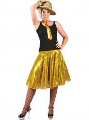 Gonna disco oro con paillettes per donna