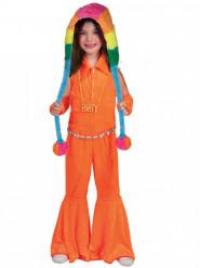 Costume tuta arancione fluo bambina