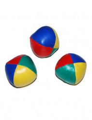 3 Palline da giocoliere colorate.