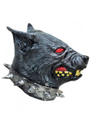 Maschera da cane arrabbiato in lattice per adulto