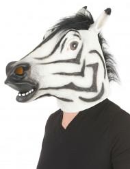 Maschera zebra in lattice per adulto