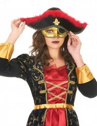 Mascherina veneziano da pirata donna