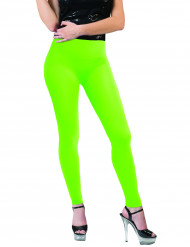 Leggings verde fluo adulto