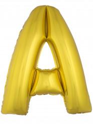 Palloncino in alluminio lettera A dorata 1 metro
