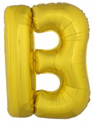 Palloncino di alluminio dorato Lettera B