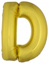 Palloncino in alluminio lettera D dorata 1 metro