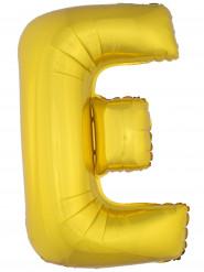 Palloncino in alluminio lettera E dorata 1 metro