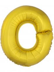 Palloncino alluminio gigante lettera O dorato 1 m