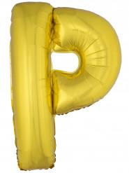 Palloncino in alluminio lettera P dorata 1 metro