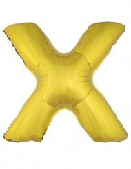Palloncino alluminio gigante lettera X dorato 1 m
