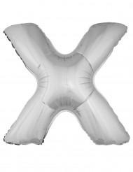 Palloncino in alluminio lettera X argentata 1 metro