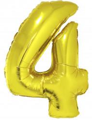 Palloncino in alluminio numero 4 dorato 102 cm
