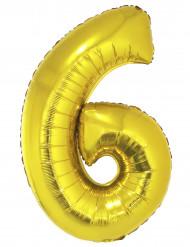 Palloncino di alluminio dorato numero 6