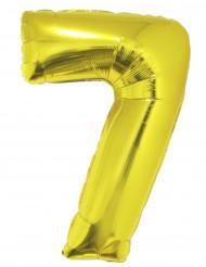 Palloncino di alluminio dorato numero 7