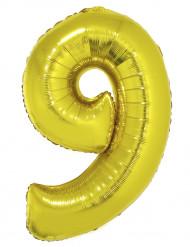 Palloncino di alluminio dorato numero 4
