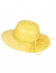 Cappello di paglia vintage giallo