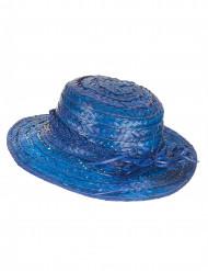 Cappello di paglia vintage blu
