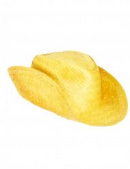 Cappello di paglia Western giallo adulto