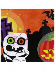 20 tovaglioli con piccoli mostri halloween