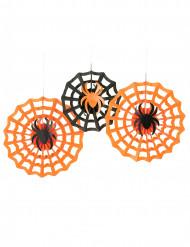 3 decorazioni da appendere ragni Halloween