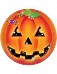 8 piatti zucca halloween da, 23 cm