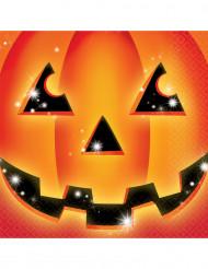 16 tovaglioli di carta zucca Halloween