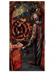 Decorazione per porta clown di Halloween
