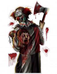 Autocollante clown insanguinato di Halloween