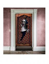 Decorazione murale di Halloween: finestra del manicomio