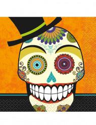 Confezione di 16 tovaglioli di carta Day of the Dead