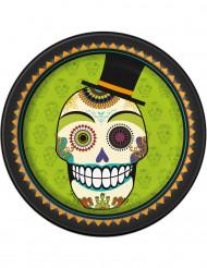 8 piatti di cartone Dia de los muertos