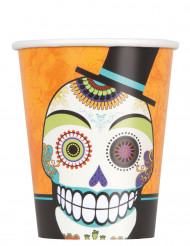 8 bicchieri di carta Day of the Dead