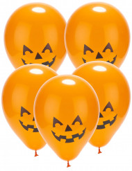5 palloncini led zucca Halloween