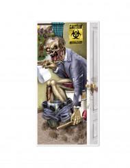 Decorazione per porta zombie al bagno