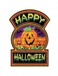 Decorazione in cartone zucca Happy Halloween