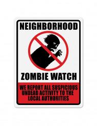 Decorazione di Halloween: pannello segnaletico zombie