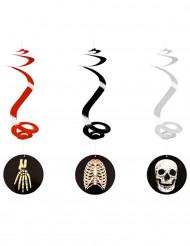Decorazioni di Halloween: 3 spirali scheletro